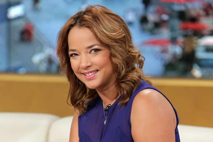 "MIAMI, FL - SEPTEMBER 09: Adamari Lopez is seen on the set of Telemundo's ""Un Nuevo Dia"" at Telemundo Studio on September 9, 2013 in Miami, Florida. (Photo by Alexander Tamargo/Getty Images)"
